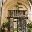 Villa Cimbrone arch gate - Stock Photo