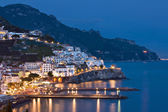 Amalfi at night, Italy — Stock Photo