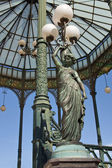 Caryatid streetlight, Naples — ストック写真
