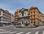 Piazza Trieste e Trento, Naples — Stock Photo