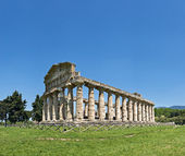 Temple of neptune, paestum, italien — Stockfoto