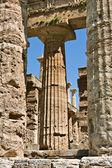 Tempel van hera kolommen, paestum, italië — Stockfoto