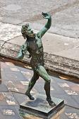 Faun sculpture, Pompeii — Stock Photo