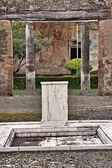 Atrium of ancient house — Stock Photo