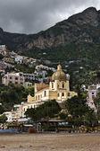 Santa caterina kilise, positano, i̇talya — Stok fotoğraf