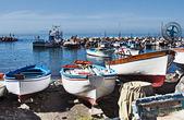 Boats at Marina Grande, Sorrento — Stock Photo