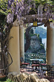Terrace with view of Sorrento Peninsula — Stock Photo