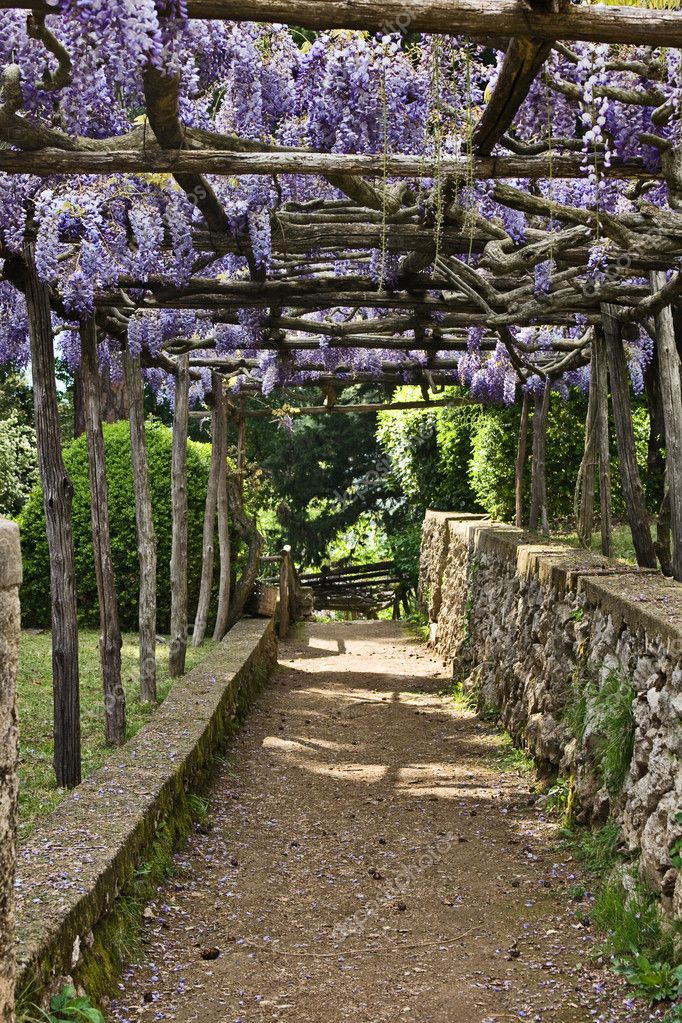 Villa Cimbrone Gardens Ravello Italy Stock Photo