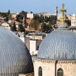 Church of the Holy Sepulchre domes - Stock Photo