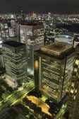 Tokyo Skyscrapers At Night — Stock Photo