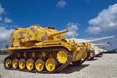 Obsoletos tanques europeus — Fotografia Stock