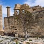 Temple Of Athena Lindia, Lindos, Greece — Stock Photo