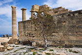 Temple Of Athena Lindia, Lindos, Greece — Stock Photo