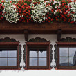 Alpbach windows, Tirol, Austria — Stock Photo