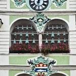 Town Hall clock tower, Gmunden, Austria — Stock Photo