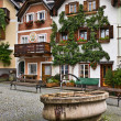 Stock Photo: Fountain at Marktplatz square, Hallstatt