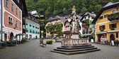 Marktplatz square, Hallstatt, Austria — Stock Photo