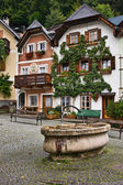 Fountain at Marktplatz square, Hallstatt — Stock Photo