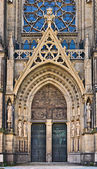 Neuer Dom portal, Linz, Austria — Stock Photo