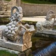 Capricorn fountains in Hellbrunn Palace — Stock Photo