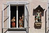 Windows 在萨尔茨堡,奥地利 — 图库照片