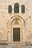 Side door of the Holy Sepulcher Church — Stock Photo