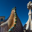 Casa Batllo roof, Barcelona - Stock Photo