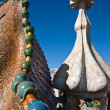 Casa Batllo roof, Barcelona — Stock Photo
