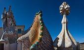 Casa batllo çatı, barcelona — Stok fotoğraf