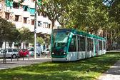Tram, green transport — Stock Photo