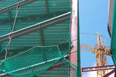 Tower crane works — Stock Photo