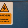 Danger. Economic recession — Stock Photo