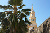 Clock Tower. Cartagena, Colombia — Stock Photo