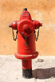 Wasserauslass, Brandbekämpfung — Stockfoto