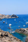 Boats at Cap de Creus, Costa Brava — Stock Photo