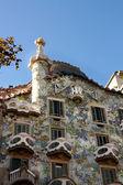 Facade of Casa Batlló by Gaudí — Stock Photo