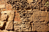 Roman wall, Barcelona — Stock Photo