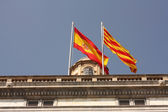 Flags in Generalitat palace — Stock Photo