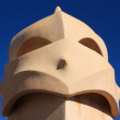 Gaudi. chimney anthropomorphic — Stock Photo