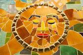Renkli mozaik güneş — Stok fotoğraf