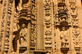 Monumental detail of Cathedral Santiago — Stock Photo