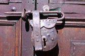 Mot de passe. loquet ou serrure ancienne. bogota — Photo