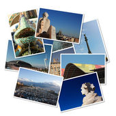 Cartões postais de barcelona, espanha — Fotografia Stock