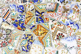 Broken pottery called trencadis, Gaudi. — Stock Photo
