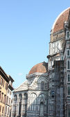 Side facade of the Duomo of Florence — Stock Photo
