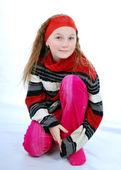 улыбающаяся девочка — Стоковое фото