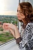 Donna malinconica — Foto Stock