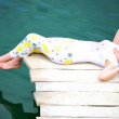 YOUNG GIRL BY LAKE — Stock Photo
