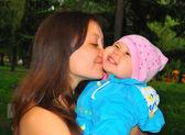 Dítě a matka — Stock fotografie