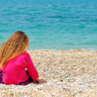 Lonely girl - Stock Photo